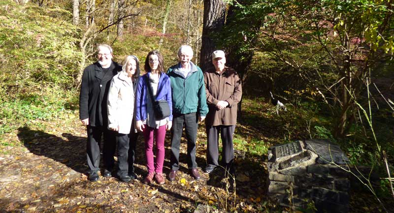 Brethren Historical Committee and Archival Intern in the woods