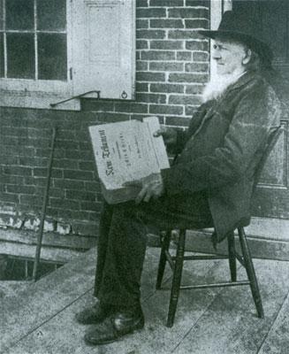 Cassell holding Sauer Bible