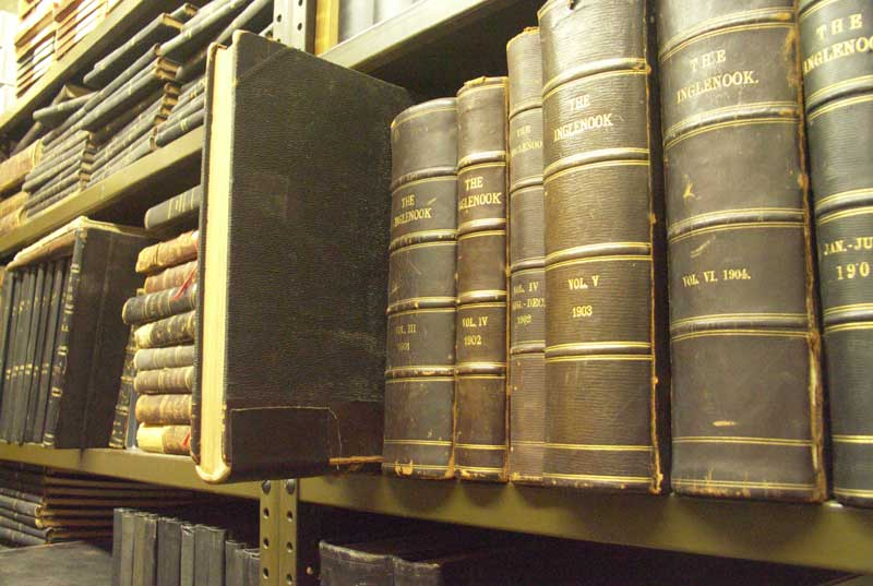 The Inglenook books in the Brethren Historical Library and Archives