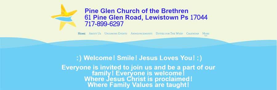 Pine Glen Church of the Brethren home page