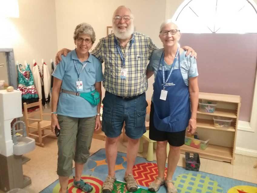 Four CDS volunteers