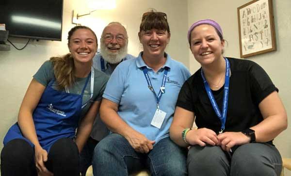 CDS volunteers at the McAllen Respite Center