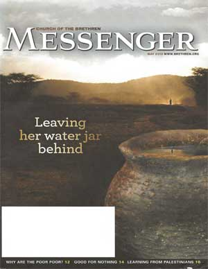 water jug and desert scenery