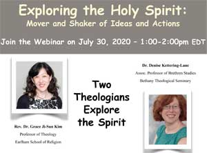 "Flyer for ""Exploring the Holy Spirit"" event"