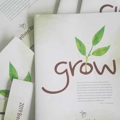 """2019 workcamps brochure """"Grow"""""""
