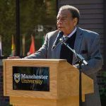 Andrew Young at podium