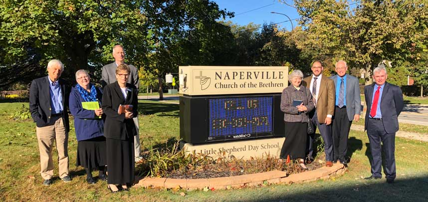 Mission and Ministry Board attendees visit Naperville Church of the Brethren.