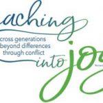 """NOAC 2019 logo """"Reaching into joy"""""""
