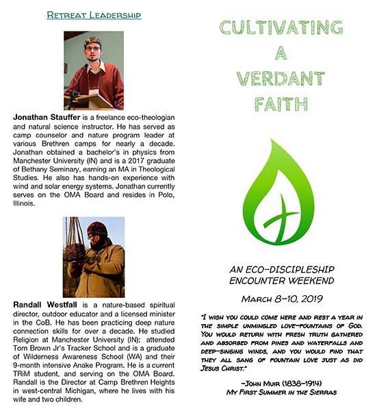 Cultivating a verdant faith outdoor ministry retreat