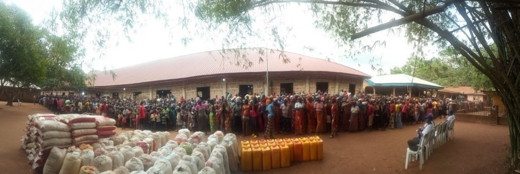 EYN's disaster ministry brings aid to a Christian center near Benin