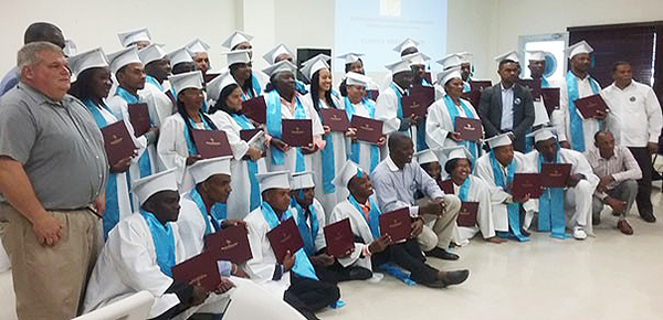 The group of ministers celebrating graduation in the Dominican Republic