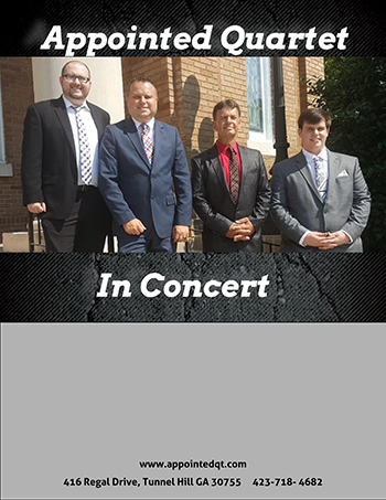 The Appointed Quartet in concert at Forest Chapel Church of the Brethren