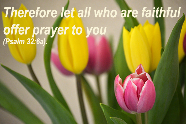 Therefore let all who are faithful offer prayer to you